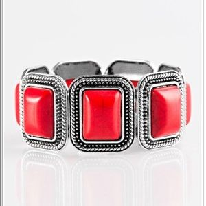SET - Cowgirl Chic - Red Bracelet & Matching Ring
